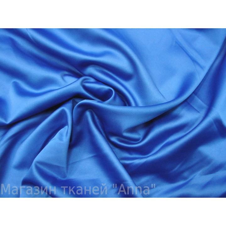 Синий атлас-стрейч