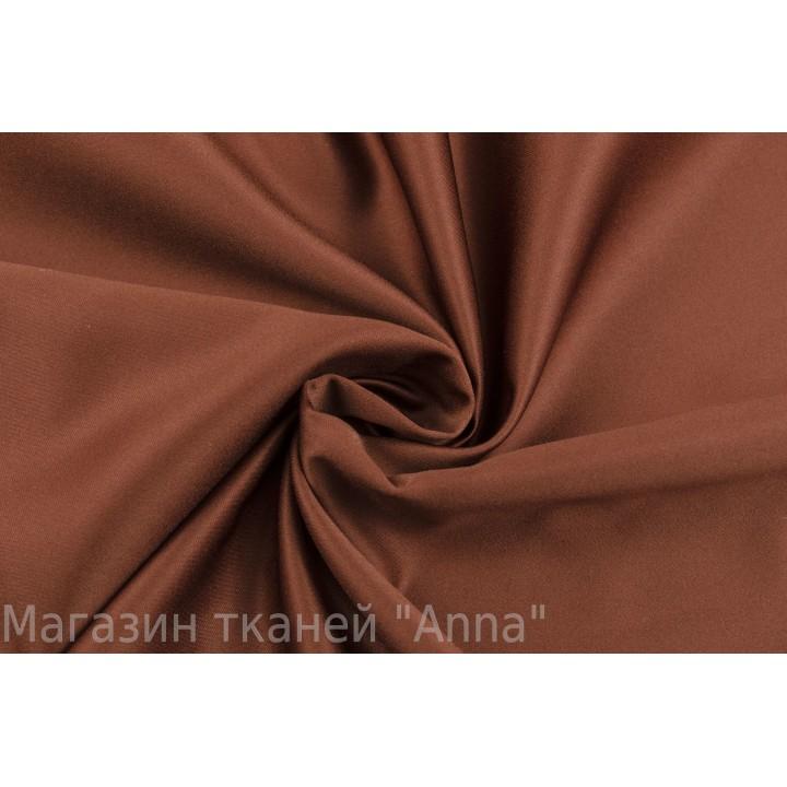 Атласная костюмно-плательная ткань коричневого цвета