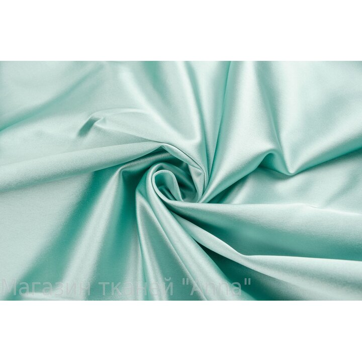 Атлас-стрейч Armani нежного мятного цвета