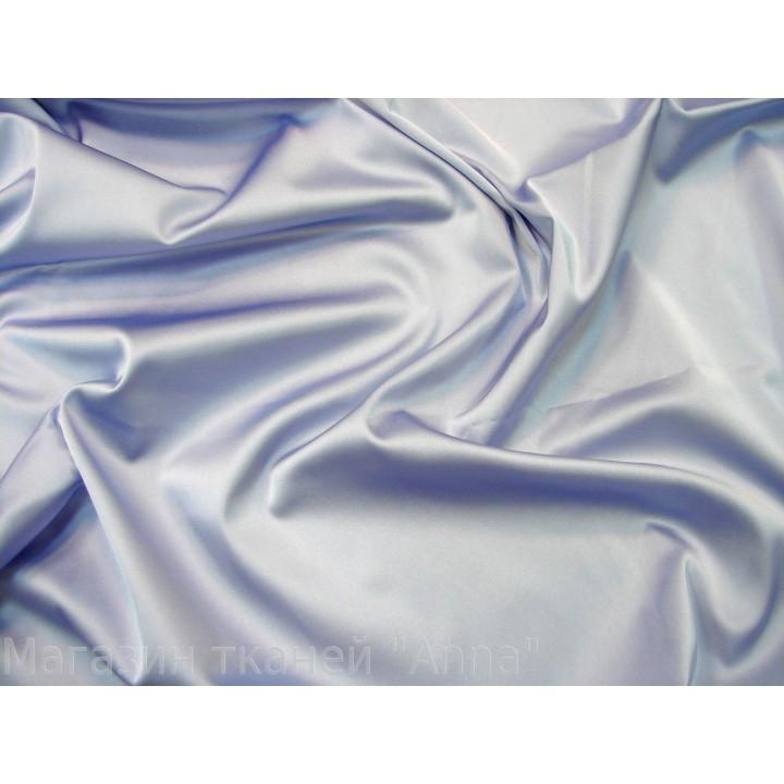 Атлас-стрейч голубого цвета со стальным оттенком