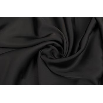 Черный полуматовый шелк с ацетатом