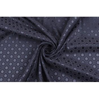 Темно-серая ткань с атласным узором