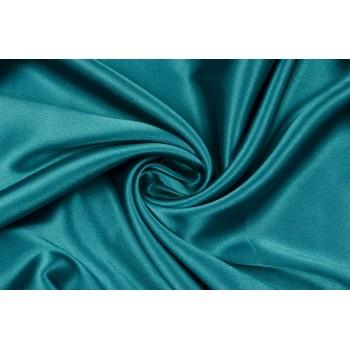 Ярко-бирюзовый атлас-стрейч для красивого платья