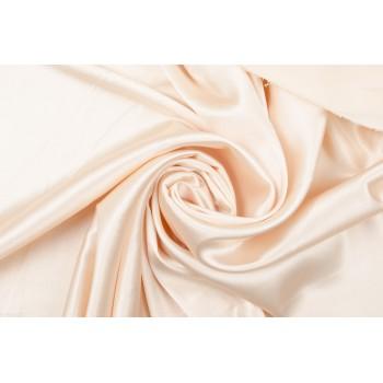 Плотный атлас светло-персикового цвета