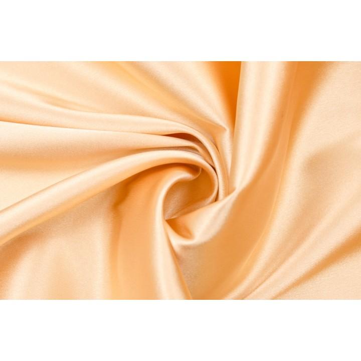 Атлас бежего-золотистого цвета с эластаном