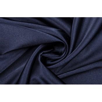 Темно-синий атлас-стрейч для платья или костюма