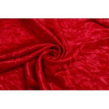 Жатый атлас ярко-красного цвета