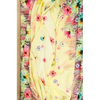 Цветной атлас с полосами ярких цветов