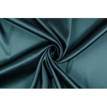 Темная бирюза - атласный шелковый атлас
