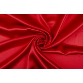 Яркий красный итальянский атласный шелк стрейч