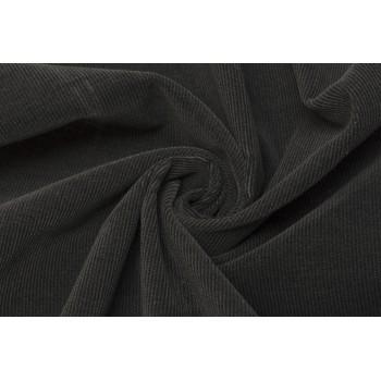 Ткань вельвет для костюма, графитового цвета