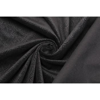 Черный бархат с узором серого цвета