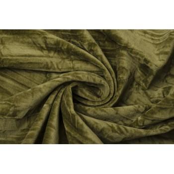 Бархат с текстурной поверхностью красивого оливкового цвета