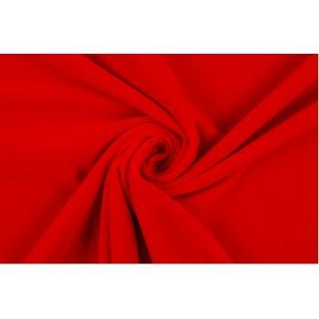 Ярко-красный бархат из натурального хлопка