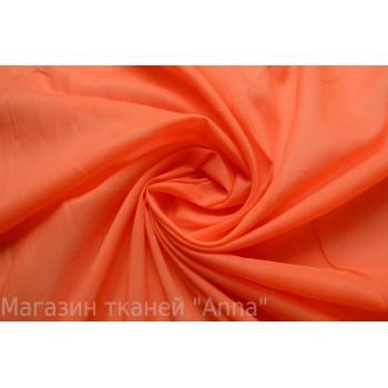 Тонкий оранжевый батист из хлопка