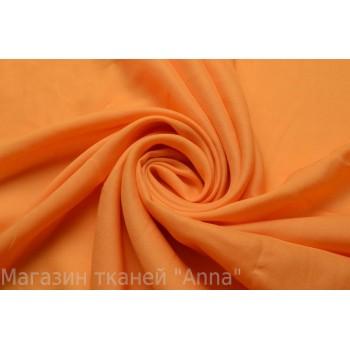 Хлопковый батист ярко оранжевого цвета