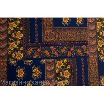 Бифлекс с мелким цветочным принтом на синем фоне