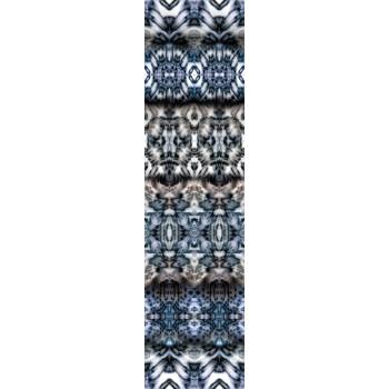 """Сине-серый трикотаж Джерси с принтом """"калейдоскоп"""""""