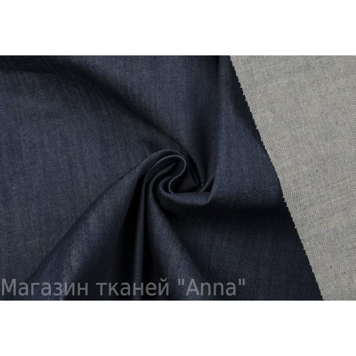 Темно-синий джинс с легким стрейчем