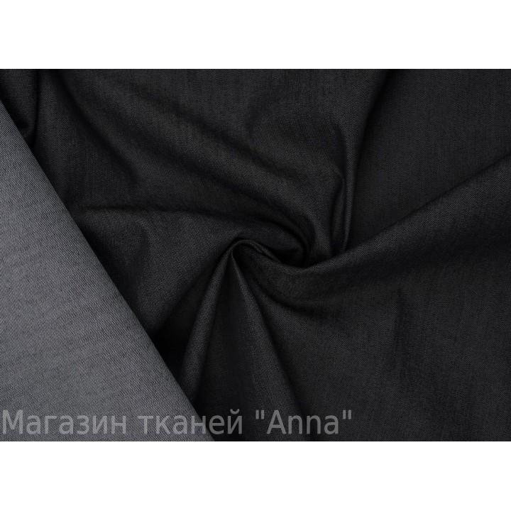 Плотный темно-серый джинс с эластаном