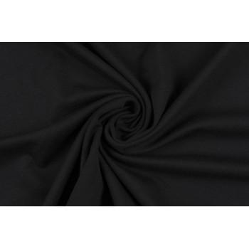 Плотный черный трикотаж Джерси