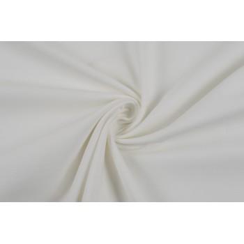 Белый плотный трикотаж джерси из вискозы
