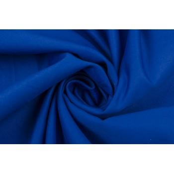 Ярко-синий костюмный хлопок с матовой поверхностью