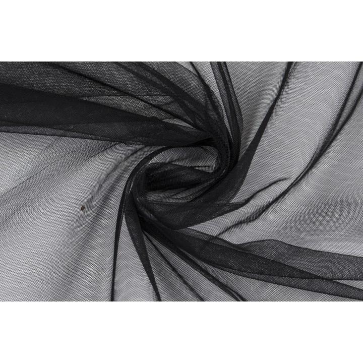 Мягкий черный фатин для юбок и декора