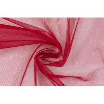 Ярко-красный фатин для одежды
