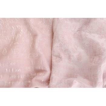 Мягкий жаккард на розовой основе - двусторонний