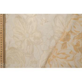 Жаккард в золотом цвете с люрексом