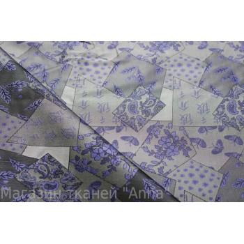 Жаккард с сочетанием геометрического принта и индийских узоров