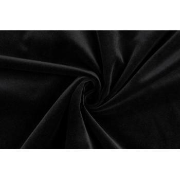 Хлопковый матовый бархат глубокого черного цвета