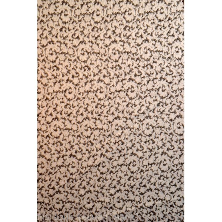 объемые мелкие завитки на черном фоне, бархатные на ощуп, ткань хорошо держит форму.