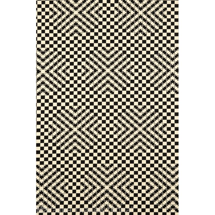 """Жаккард в черно-белом цвете """"шахматка"""" с эффектом 3D"""