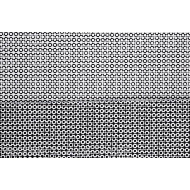 мелкий принт - белые ромбики на черной основе, хорошо держит форму