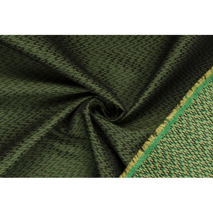 Темно-зеленый жаккард с мелким узором
