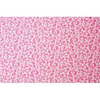 Мягкий бело-розовый жаккард