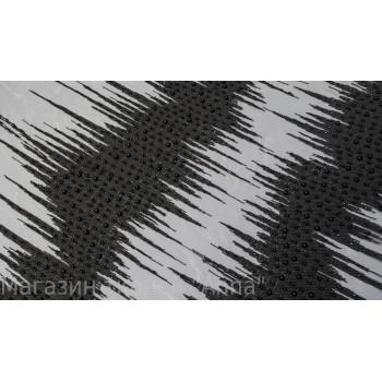 Черный гипюр расшитый бусинами