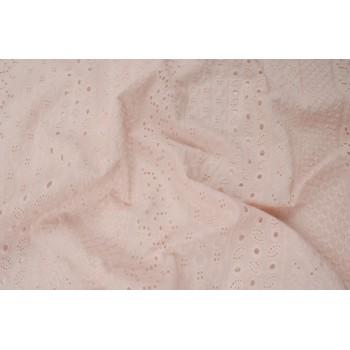 Светло-розовый хлопок-шитье для платья или блузки