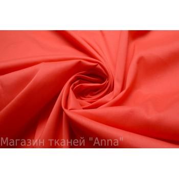 Рубашечный хлопок яркого красного цвета с добавлением стрейча