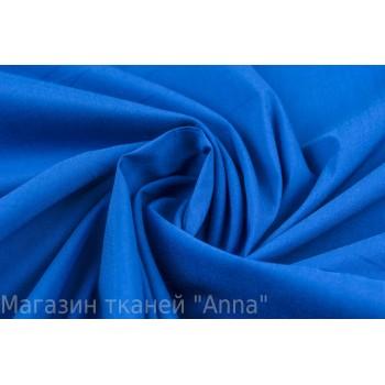 Яркий синий хлопок для рубашки