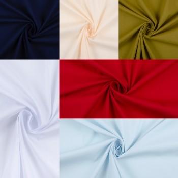 Гладкий хлопок разных цветов с эластаном, для сорочек и платьев