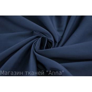 Темный синий хлопок-стрейч для платья и сорочки
