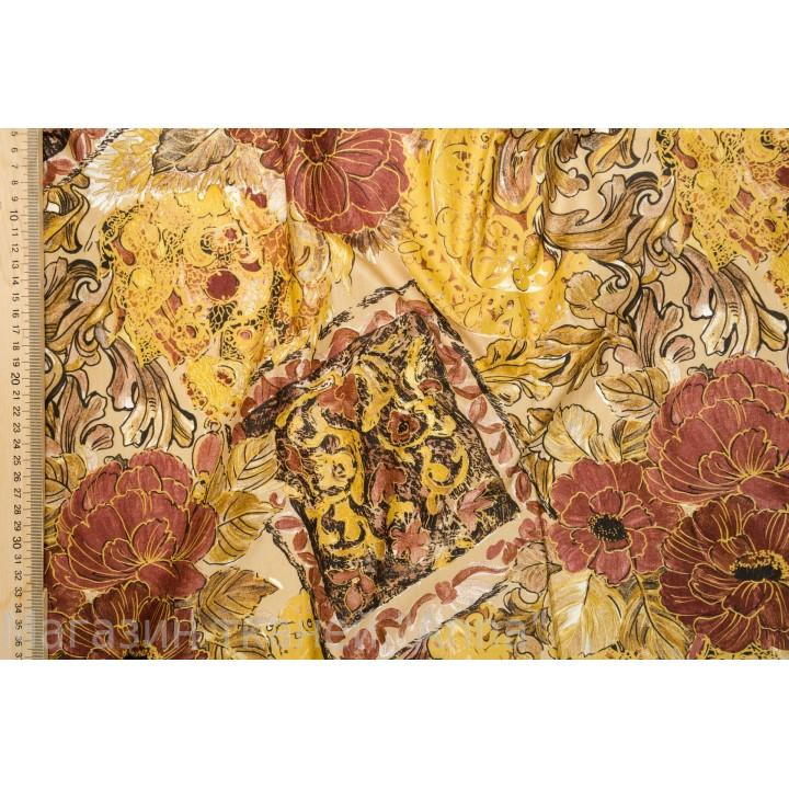 Цветы и абстрактный узор в мягком хлопке