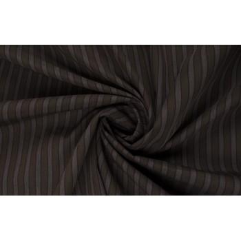 Полосатый полированный хлопок с коричневой полоской