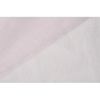 Тонкая сетка-гипюр бледно-розового цвета