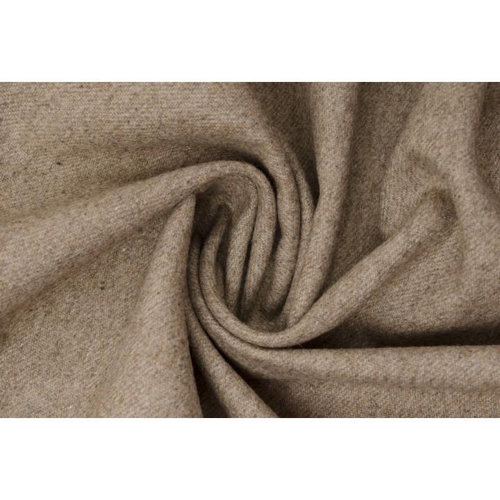 Бежевая утепленная костюмная ткань