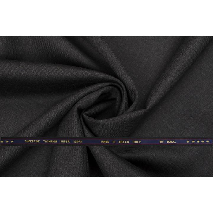 Темно-серая шерсть Super 120
