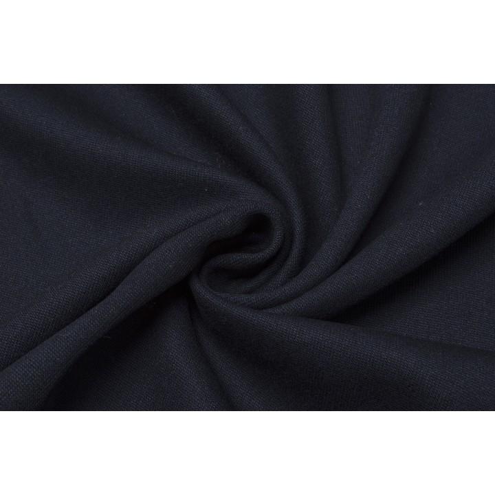Темно-синяя плотная шерсть для костюа или кардигана